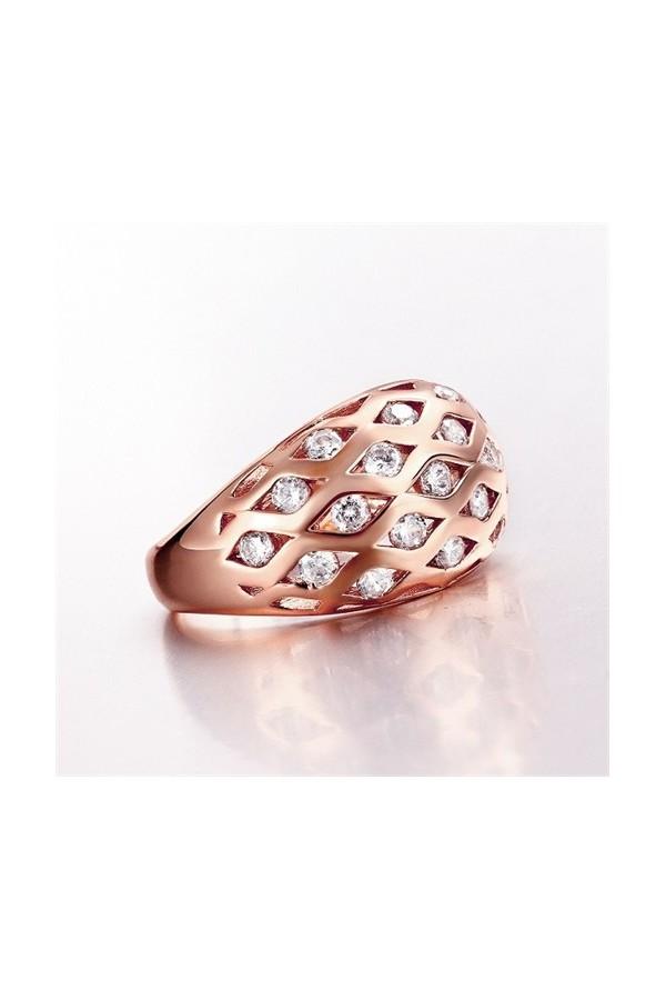 Byzinci Gold Plated Zircon Ring