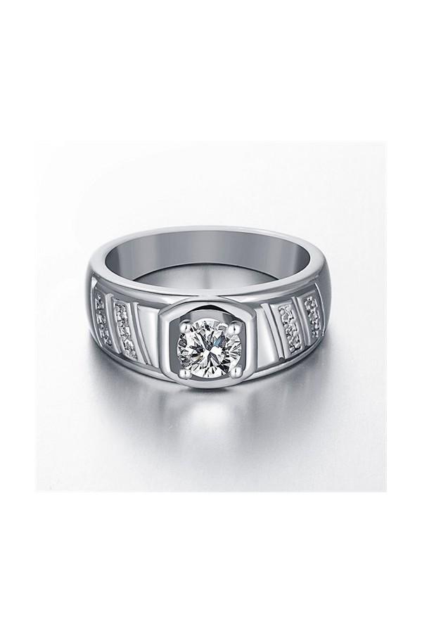Byzinci Women's White Gold Ring