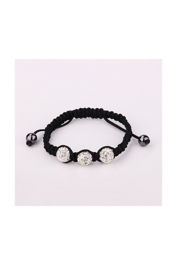 Byzinci Women's Onyx Stone Knitted Bracelet