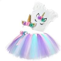 Bba New Trend 3lü Unicorn Tütü Etek, Unicorn Taç ,baskılı Tişort
