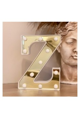 3D Işıklı LED Harf Dekoratif Aydınlatma Büyük Boy Z