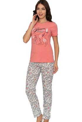 Alperi 78422 Kadın Yazlık Kısa Kol Pijama Takım