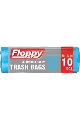 Floppy Jumbo Boy Çöp Torbası 80X110 cm 90 Lt 10'lu 160 gr 5 'li