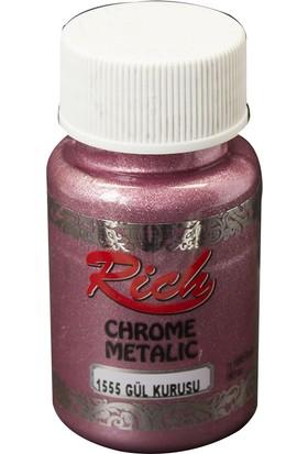 Rich Chrome Metalik Boya 60 cc N.1555 Gül Kurusu