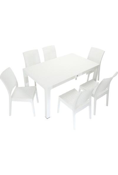 Mandella Elit Rattan 90x150 Elit Sandalye Masa Takımı