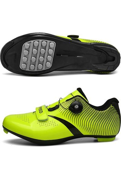 Generic Bisiklet Ayakkabısı Yol Bisikleti Kilit Ayakkabı Kaymaz ve Aşınmaya Dayanıklı (Yurt Dışından)