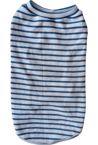 Markapet Kedi Köpek Kıyafeti Mavi Beyaz L 33 cm