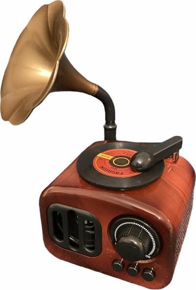 Hera Hediyelik Gramafon Müzik Kutusu Kurmalı Nostaljik