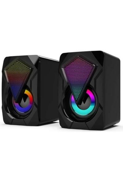 Soaiy Bluetooth Kablosuz Hoparlör Speaker Soaiy SA-L12 Rgb LED Siyah