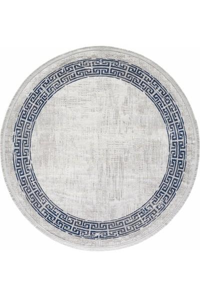 Gümüşsuyu Black & Brown 120X120 Daire 11298 - Mavi Halı