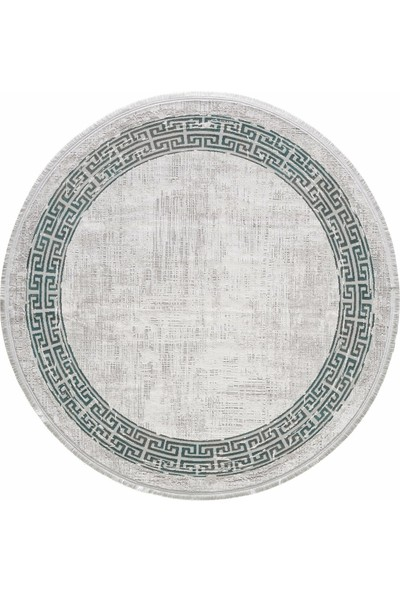 Gümüşsuyu Black & Brown 120X120 Daire 11298 - Yeşil Halı