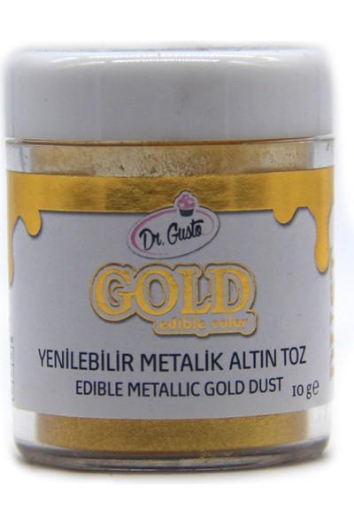 Dr grusto Dr. grusto Yenilebilir Metalize Altın Toz Çikolata Boyası 10 gr