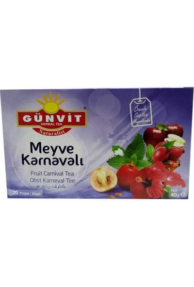 Günvit Naturalist Meyve Karnavalı Karışık Bitki Çayı 20 Süzen Pşt