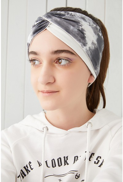 Batik Beyaz Çocuk Genç Bandana Saç Bandı Ekstra Yumuşak Esnek Pamuklu Penye