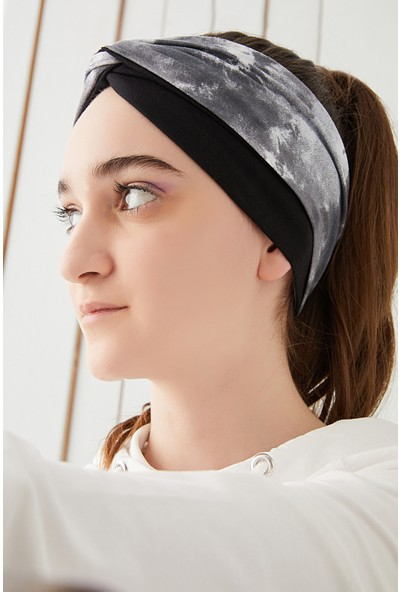 Batik Siyah Çocuk Genç Bandana Saç Bandı Ekstra Yumuşak Esnek Pamuklu Penye