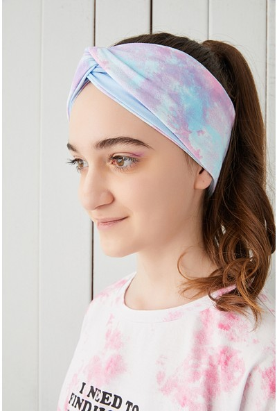 Babygiz Batik Aqua Çocuk Genç Bandana Saç Bandı Ekstra Yumuşak Esnek Pamuklu Penye