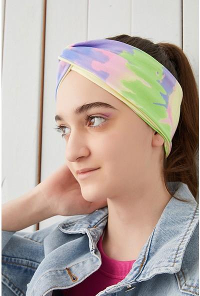 Batik Gökkuşağı Çocuk Genç Bandana Saç Bandı Ekstra Yumuşak Esnek Pamuklu Penye