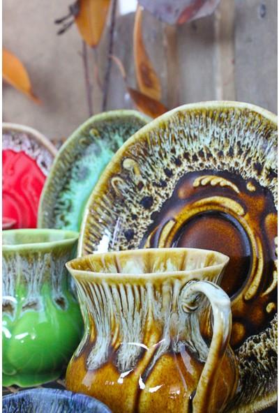 Adamodart El Yapımı Stoneware 6'lı Türk Kahvesi Fincanı