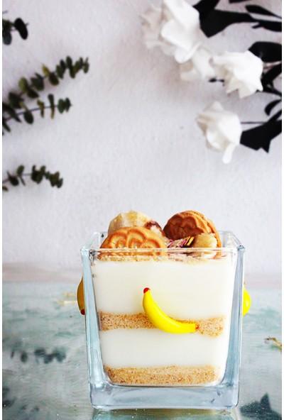 Adamodart El Yapımı Cam Muz Figürlü Tekli Magnolia Tatlı ve Dondurma Kasesi