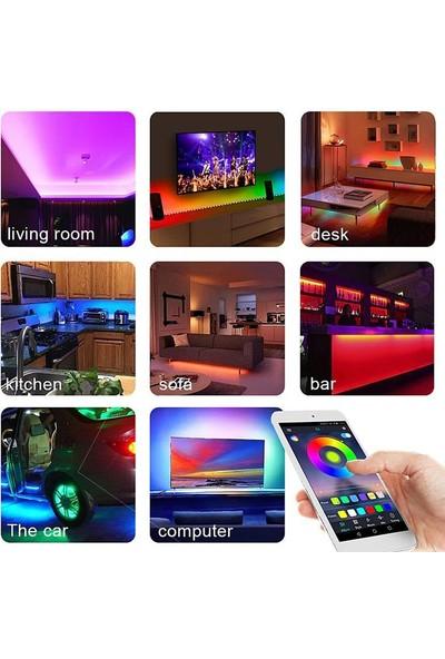 Exeo - Bluetooth Kumandalı Silikonlu Rgb 3 Çipli Şerit LED Işık
