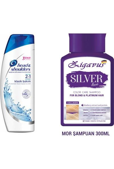 Head&shoulders Klasit Bakım + Zigavus Silver Mor Şampuan 300 ml Kolajen ve Keratin Içerikli Renk Koruyucu