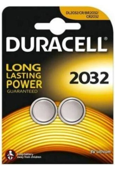 Duracell Cr 2032 Lithium 3V Pil 2'li 79822