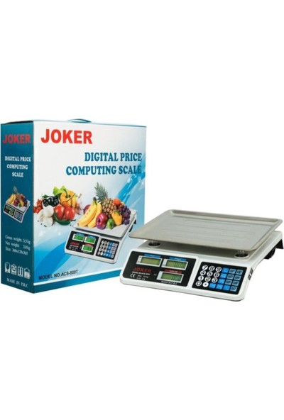 Joker Dijital Terazi 40 kg LCD Ekran Sudan Etkilenmez Dijital Terazi Joker ACS-809T