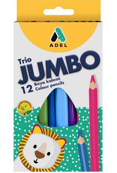 Adel Boya Kalemi Jumbo Üçgen Tam Boy 12 Renk