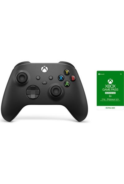 Microsoft 9.Nesil PC Oyun Kumandası Siyah + 3 Ay Gamepass For PC Üyeliği