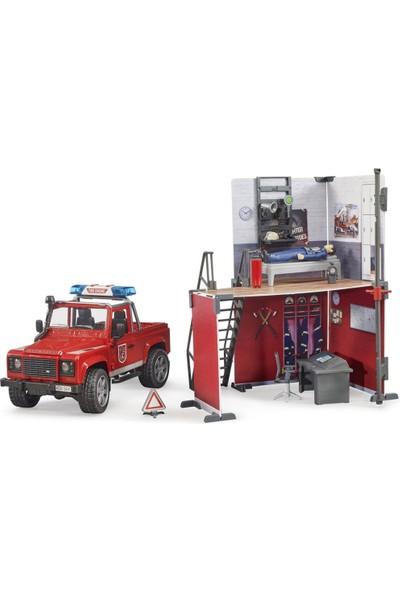 Bruder Itfaiye Istasyon & Land Rover Itfaiye Aracı BR62701