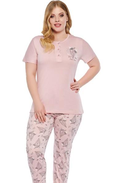 Alperi 78065 Kadın Yazlık Battal Pijama Takım
