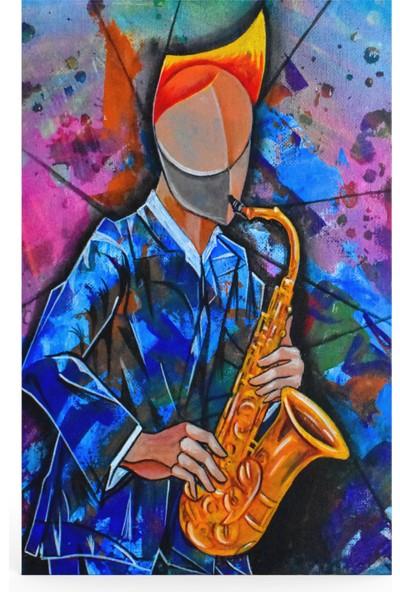 Treedi Art Colorful Musician Dekoratif Tablo
