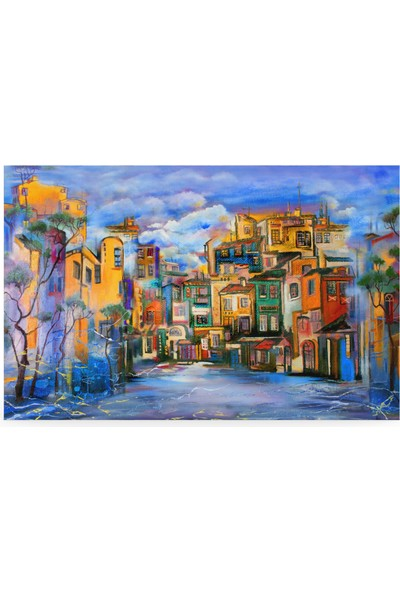 Treedi Art Mavi Gökyüzü Dekoratif Tablo
