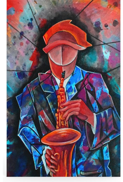 Treedi Art Cubism Surrealism Musician Dekoratif Tablo