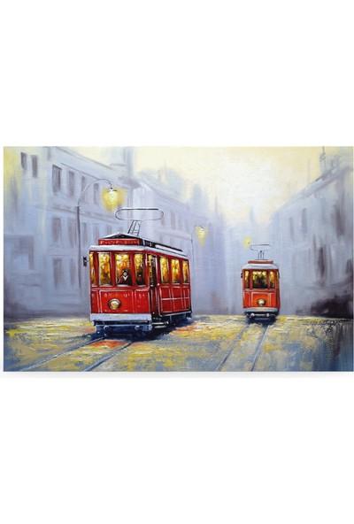 Treedi Art Tramvay Dekoratif Tablo