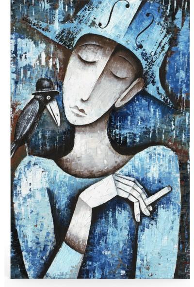 Treedi Art Harlequin Siyah Kuzgun Dekoratif Tablo