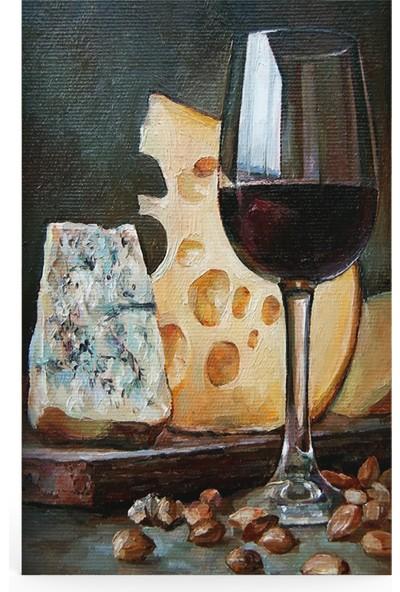 Treedi Art Şarap Kadehi Dekoratif Tablo