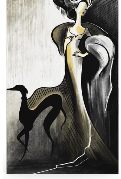 Treedi Art Modern Kadın Dekoratif Tablo