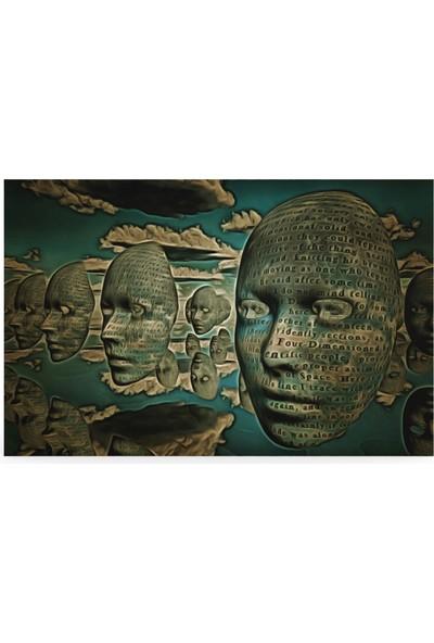 Treedi Art Masks Hovers In The Sky Dekoratif Tablo