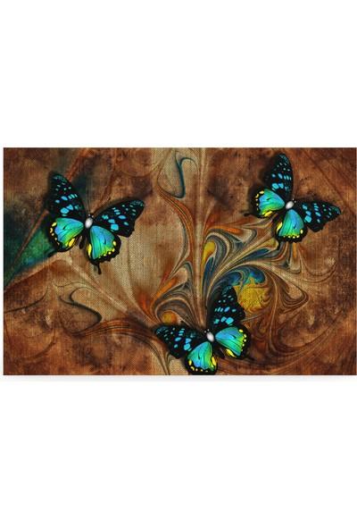 Treedi Art Uçuşan Kelebekler Dekoratif Tablo