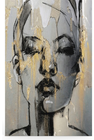 Treedi Art Kadın Portresi Dekoratif Tablo