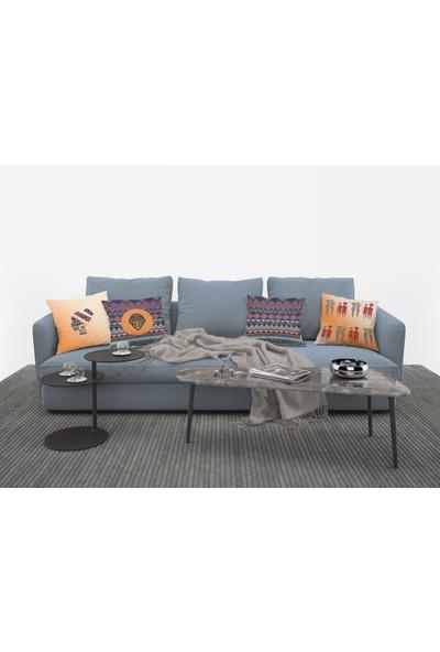 Tropik Home 4'lü African Desen Dijital Baskılı Renkli 40 x 40 cm Kırlent Kılıfı
