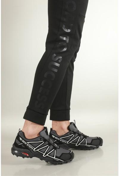 Günlük Rahat Siyah Füme Erkek Spor Ayakkabı 160