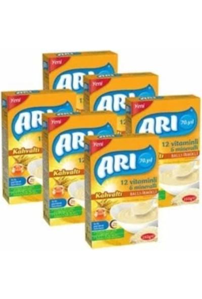 Arı Mama 12 Vitaminli 6 Mineralli Sütlü Ballı Irmikli Pirinçli Kahvaltı 200GR (6 Lı Paket)