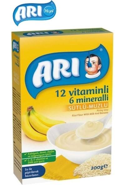 Arı Mama Arı 12 Vitaminli 6 Mineralli Sütlü Muzlu Pirinçli 200GR (6'lı Paket)