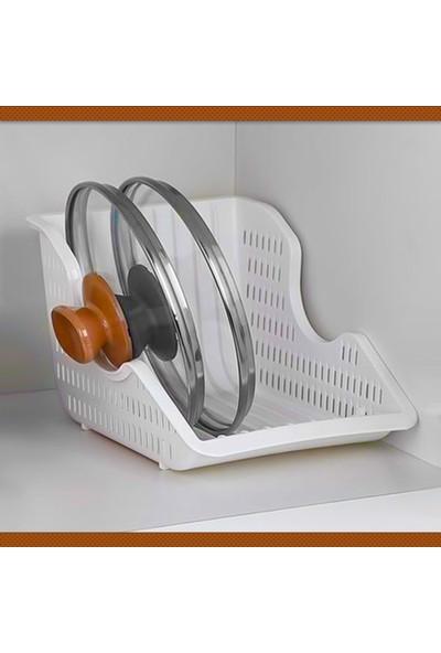 Ferhome Tencere Kapağı Tabak Düzenleyici 2'li Set Maxi Boy Organizer Bulaşıklık Tabaklık