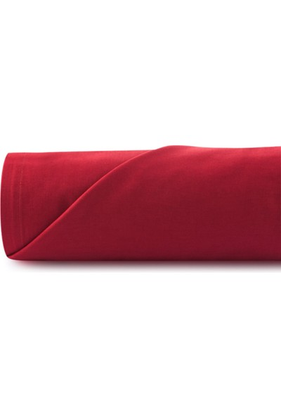 Mobaş Kırmızı Tek Kişilik Penye Lastikli Çarşaf