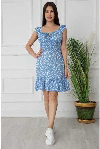 Kalopya Bayan Beli Gipeli Mini Elbise 634-2702