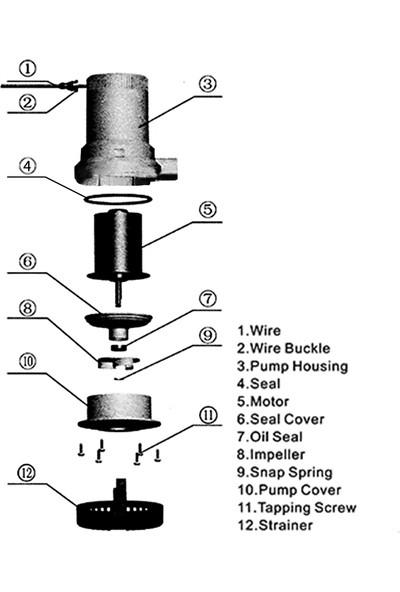 Gahome 12 V 1100GPH Dalgıç Sintine Pompası Yeni Elektrikli (Yurt Dışından)