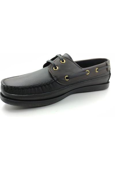 Artmen 1042911 Hakiki Deri Bağcıklı Erkek Siyah&kahverengi Günlük Ayakkabı